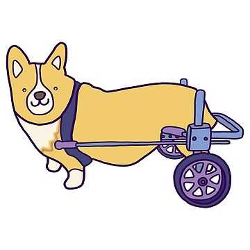 Corgi on wheels  by KayleighCastle