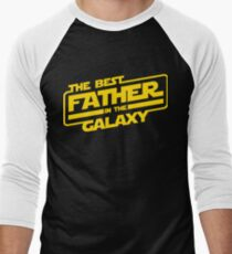 The Best Father In The Galaxy Men's Baseball ¾ T-Shirt