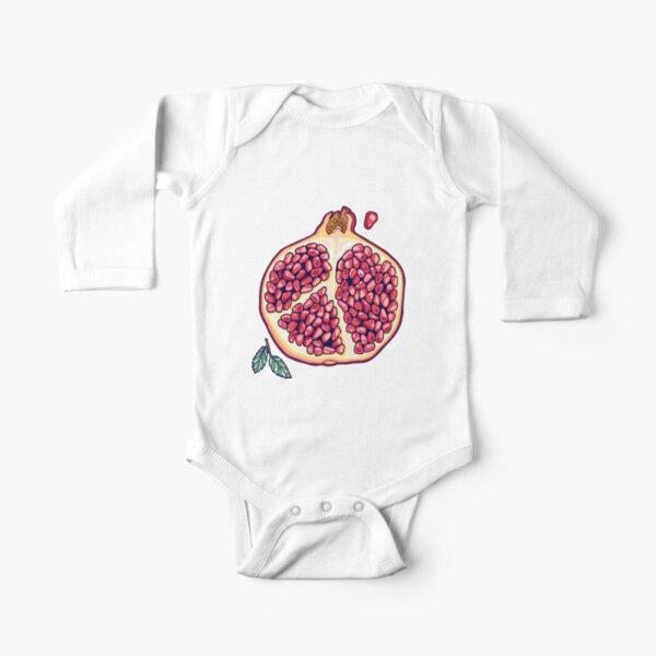 pomegranate garden Long Sleeve Baby One-Piece