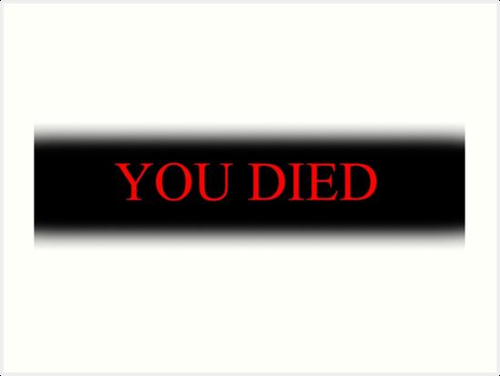 Quot You Died Quot Art Prints By Herbert Shin Redbubble