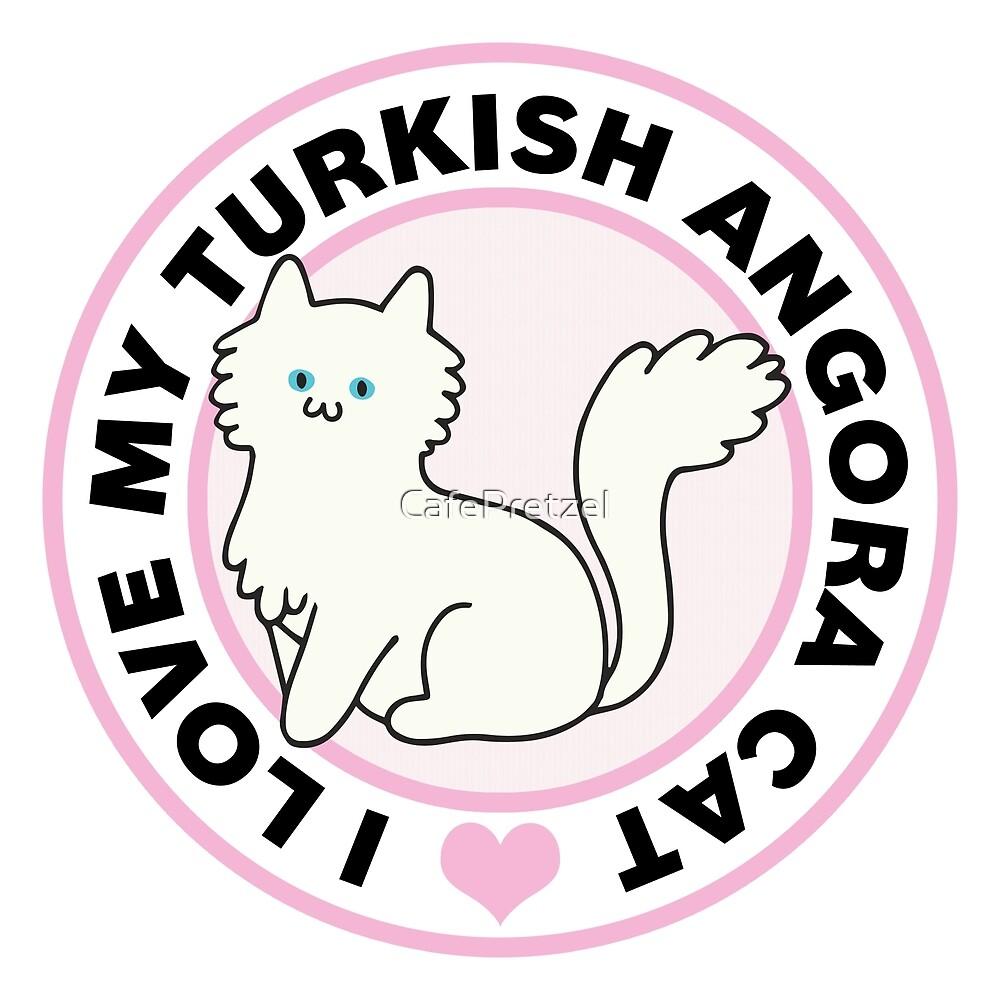 Turkish Angora Cat Lover T-Shirts by CafePretzel