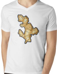 ginger root power Mens V-Neck T-Shirt