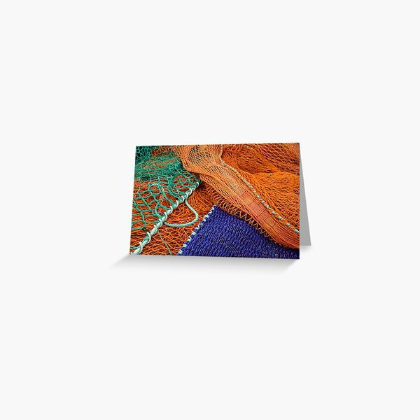 Colourful fishing nets Greeting Card