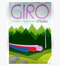 Giro D'Italia 2014 Poster by Bikmo Poster
