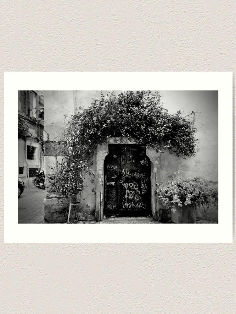 Alternate view of Trastevere Door Art Print
