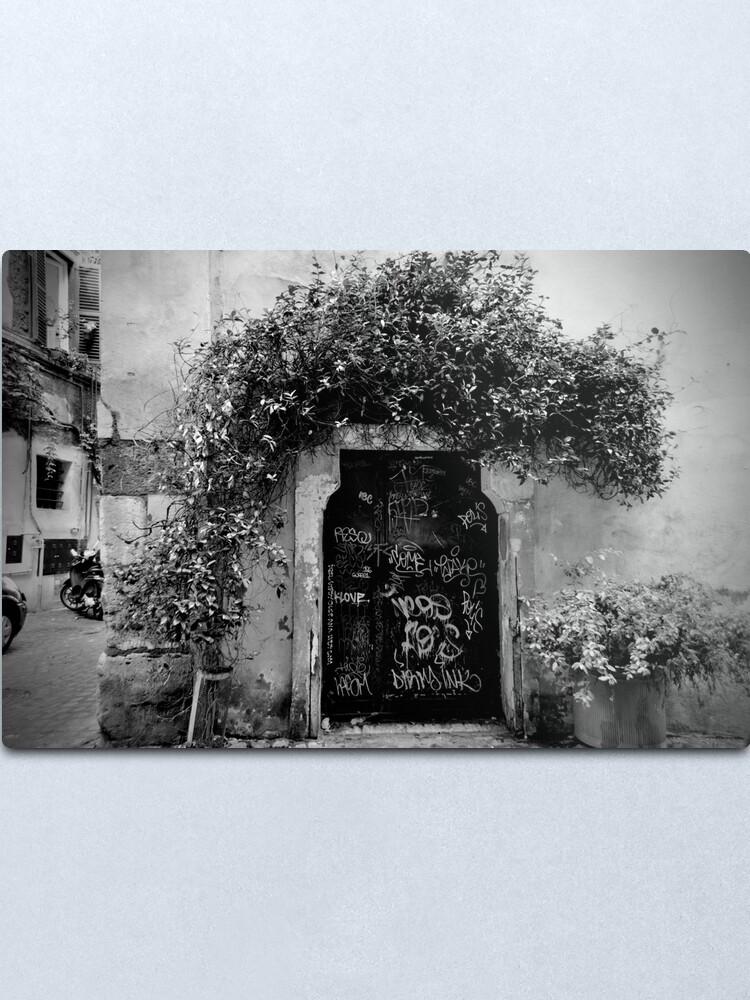 Alternate view of Trastevere Door Metal Print