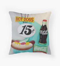A Hot Dog and a Coke Throw Pillow