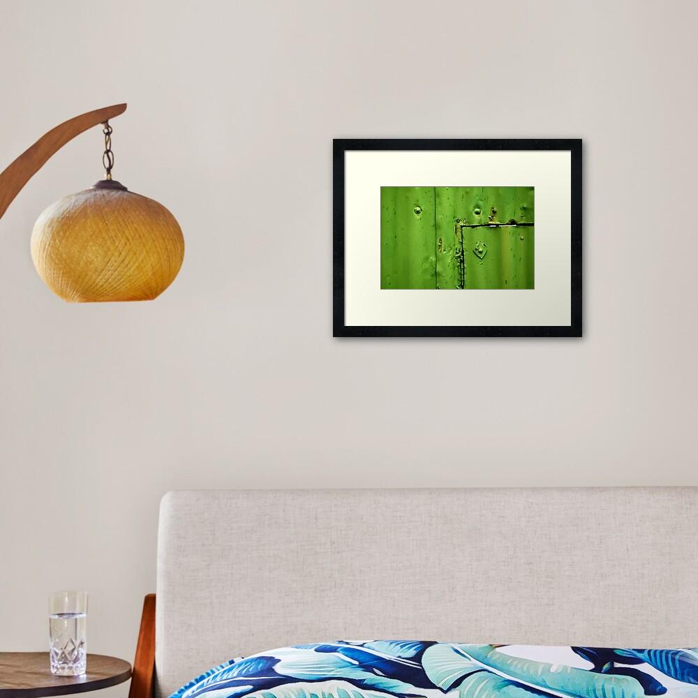 Green Section Framed Art Print