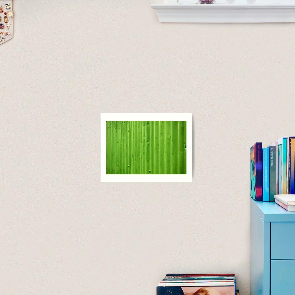 Green Ripples Art Print