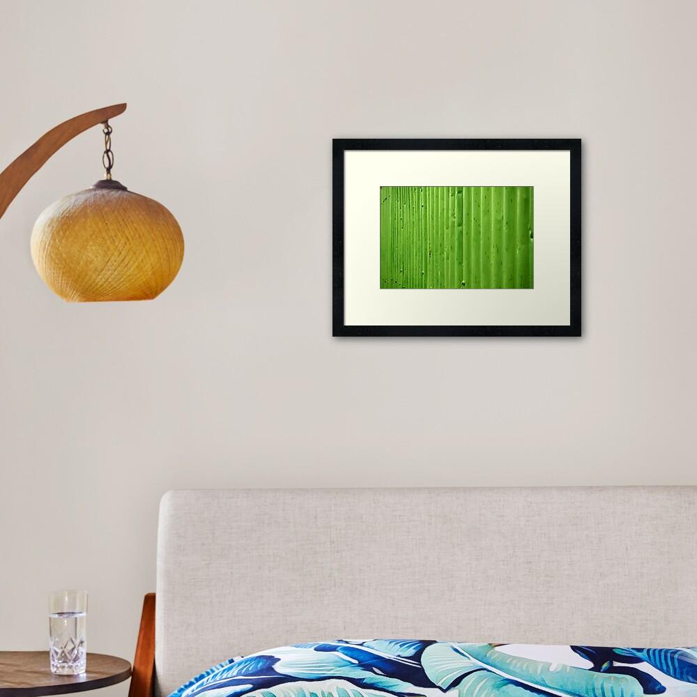 Green Ripples Framed Art Print