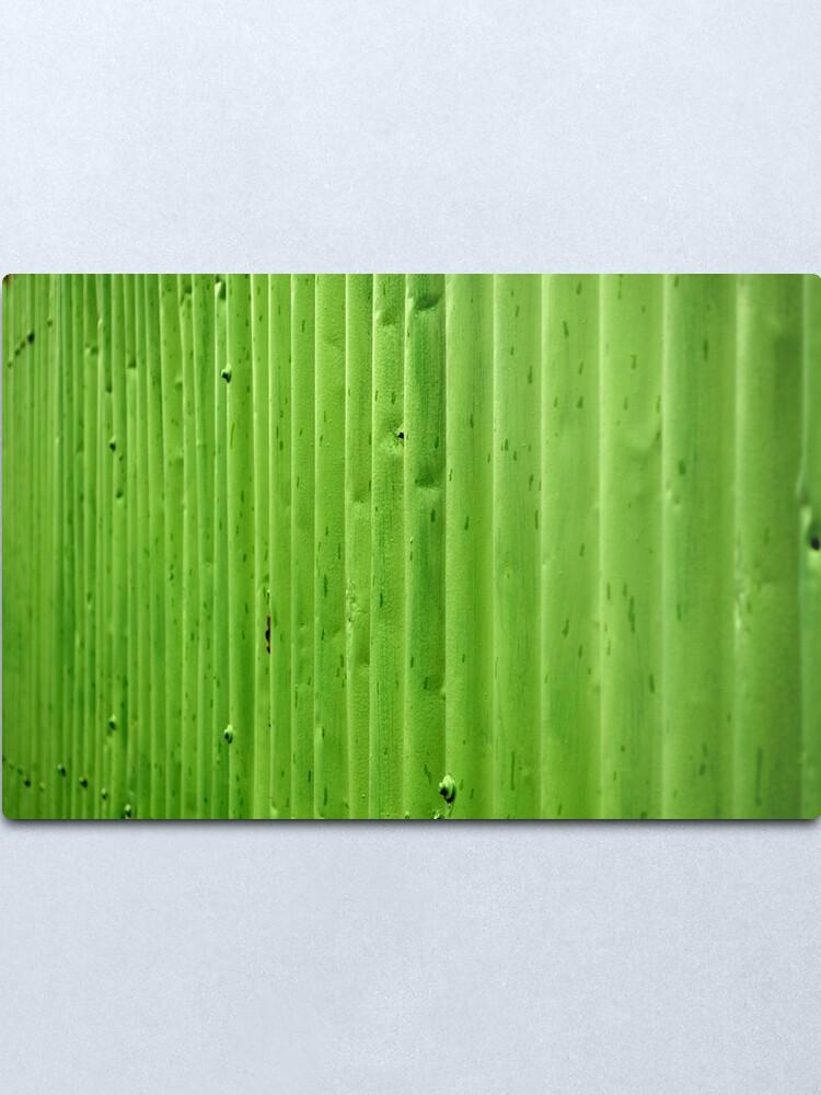 Alternate view of Green Ripples Metal Print