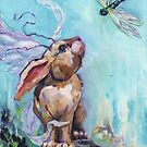Venice Winged Bunny (with dragonfly) by justteejay