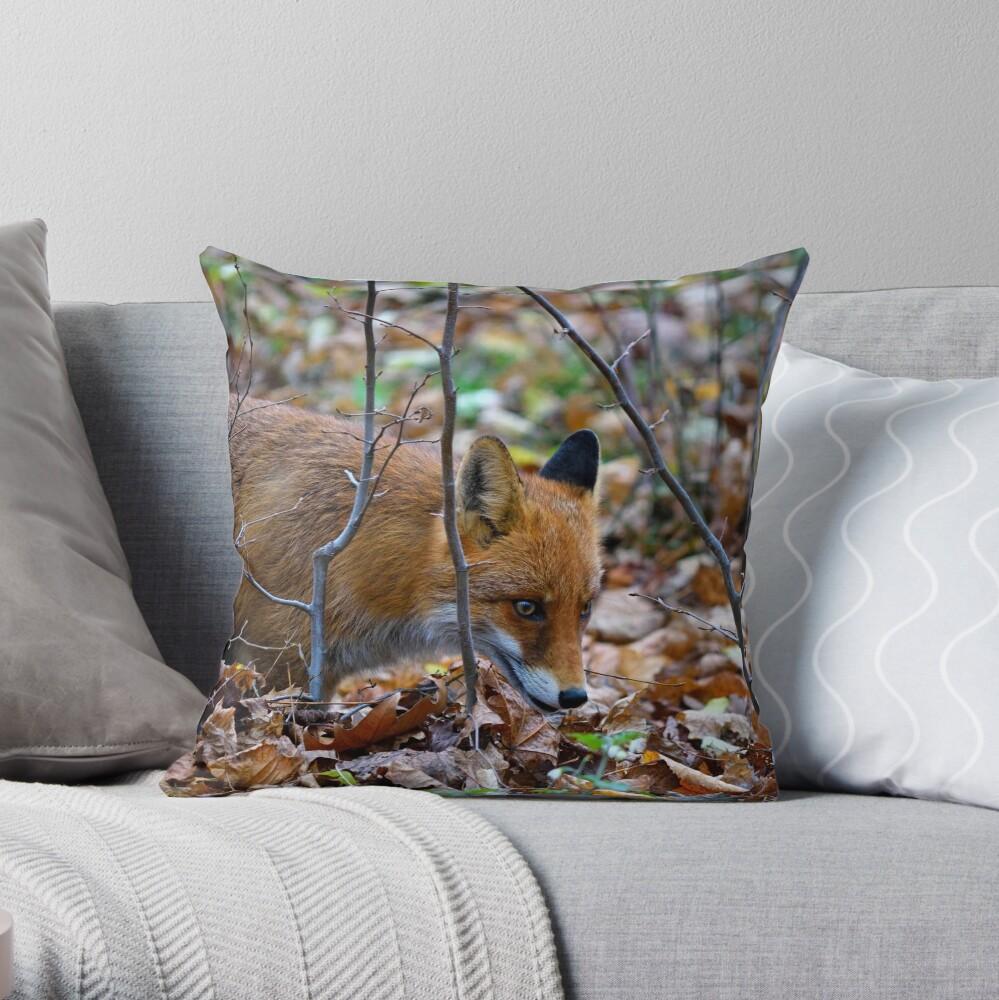 Friendly Fox Throw Pillow