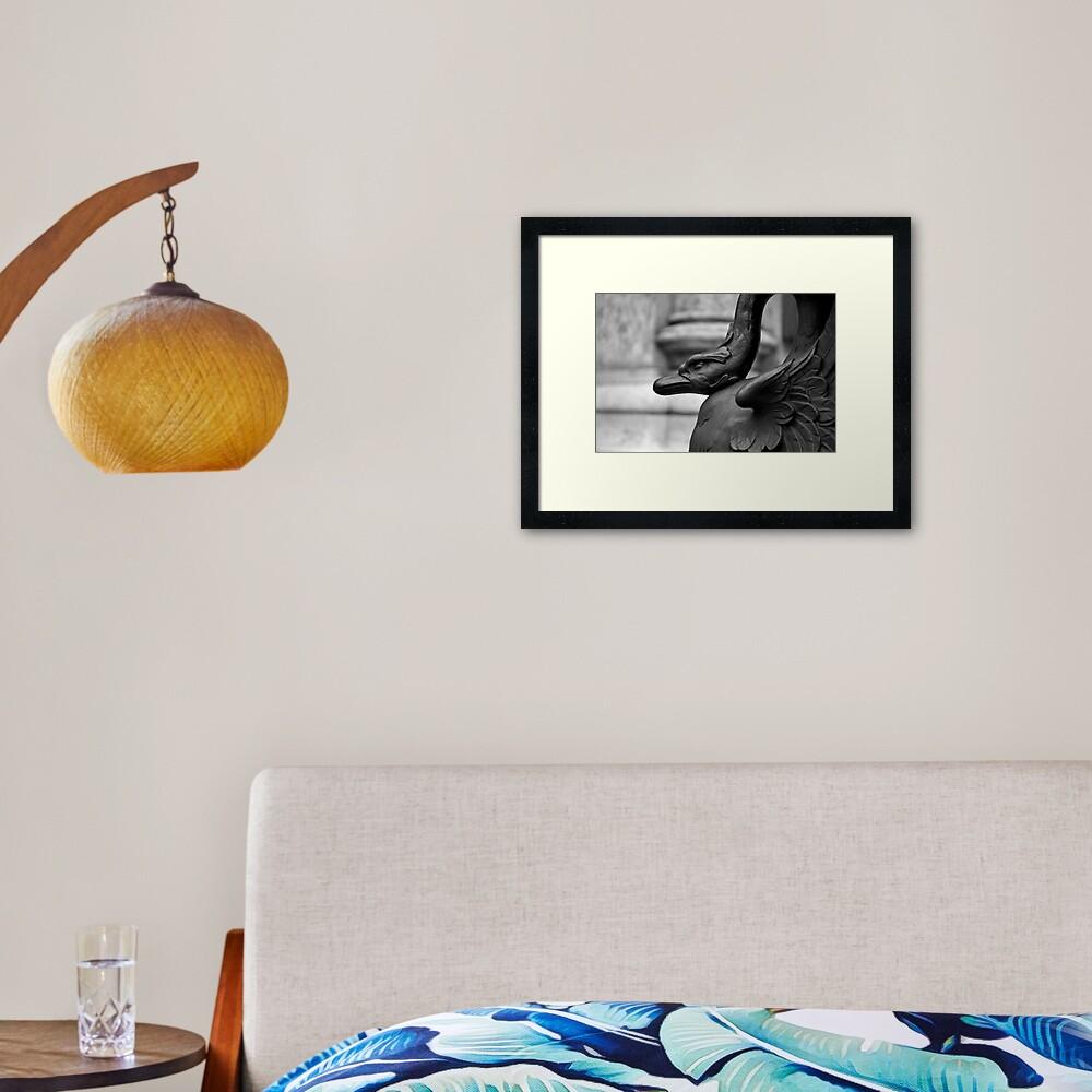 Cranky Viennese Swan Framed Art Print