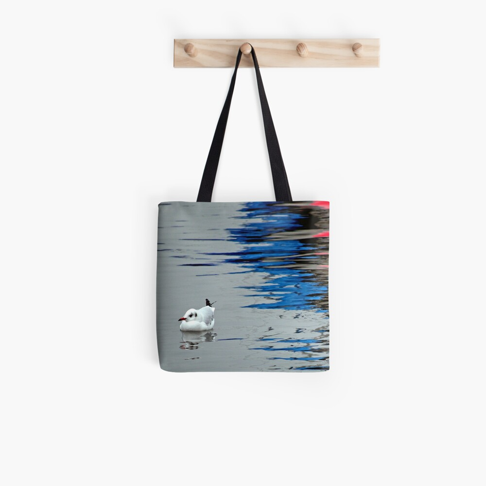 Gull with Reflections Tote Bag