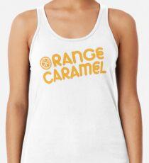 Orange Karamell Design Tanktop für Frauen