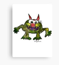 Funny Cartoon MonSTAR Monster 006 Canvas Print