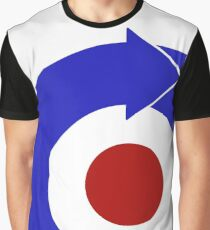 Retro look mod target with arrow Graphic T-Shirt