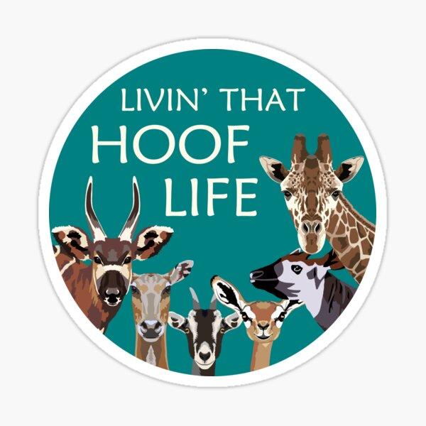 Livin' that hoof life Sticker