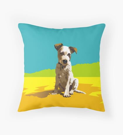 Daisy on Stradbroke Island Throw Pillow