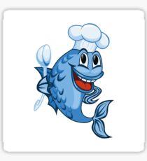 cooking fish Sticker