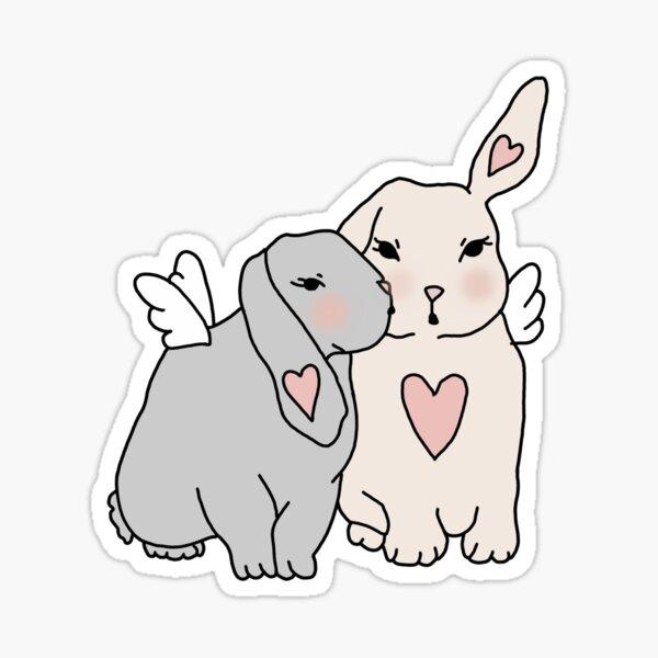 Bunny Angels Sticker