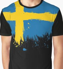 Sweden - Paint Splatter Graphic T-Shirt