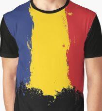 Romania - Paint Splatter Graphic T-Shirt