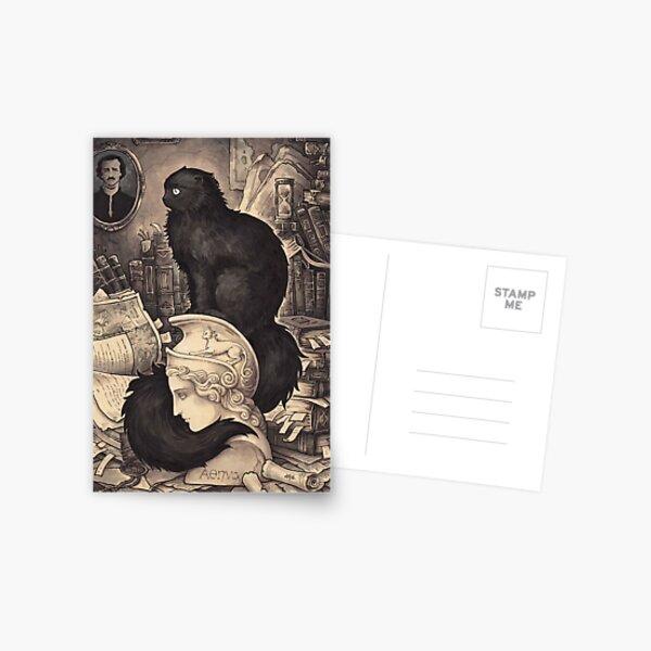 Cat named Edgar Poe Postcard