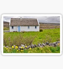 rural irish cottage in the burren countryside, county clare, ireland Sticker