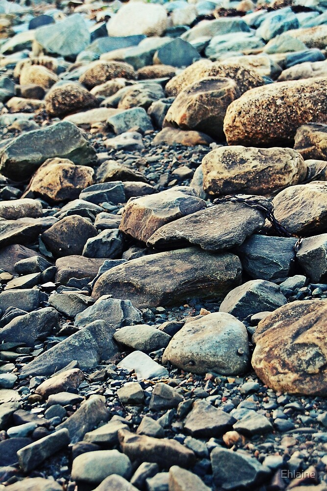 Rocky Shoreline by Ehlaine