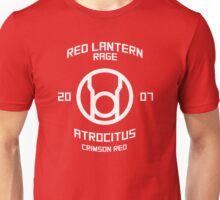 Red Lantern - Boxing Style - White Print Unisex T-Shirt