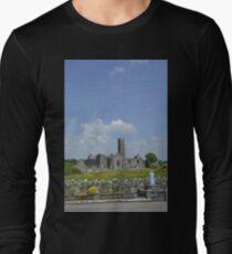 Quin Abbey County Clare Ireland Landmark Scenic Landscape Long Sleeve T-Shirt