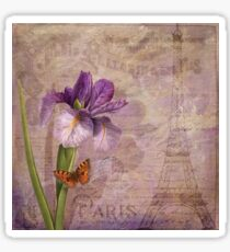 Ville de Paris French floral garden art Sticker