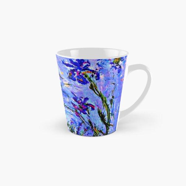 Monet Masterpiece - Irises, painting by Claude Monet Tall Mug