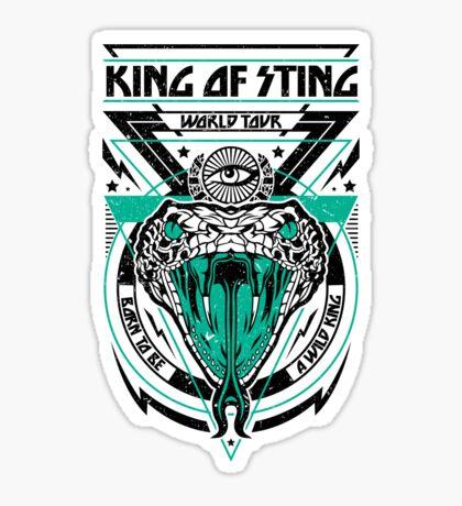 King of Sting Sticker
