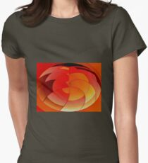 Orange & Yellow Womens Fitted T-Shirt