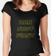Han Shot First Women's Fitted Scoop T-Shirt
