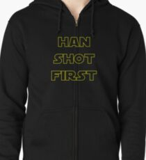 Han Shot First Zipped Hoodie