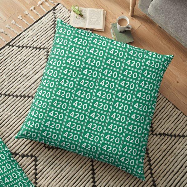 420 street sign Floor Pillow