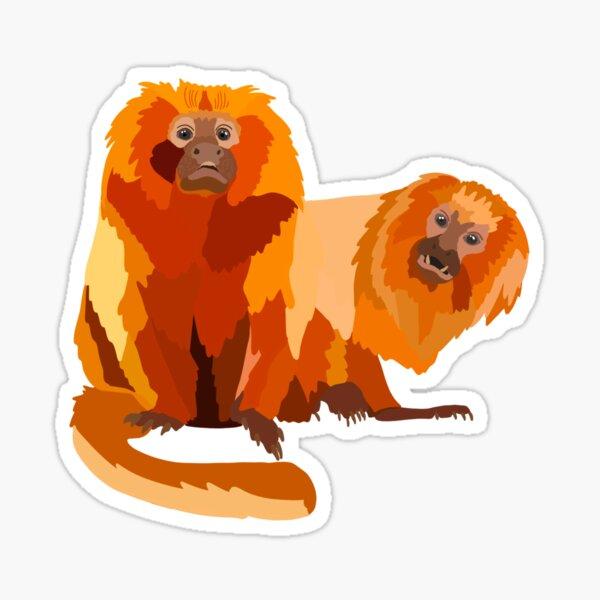 G is for Golden Lion Tamarin  Sticker
