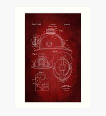 Firefighter Helmet Patent 1965 Art Print