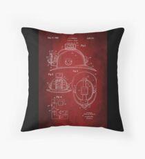 Firefighter Helmet Patent 1965 Throw Pillow