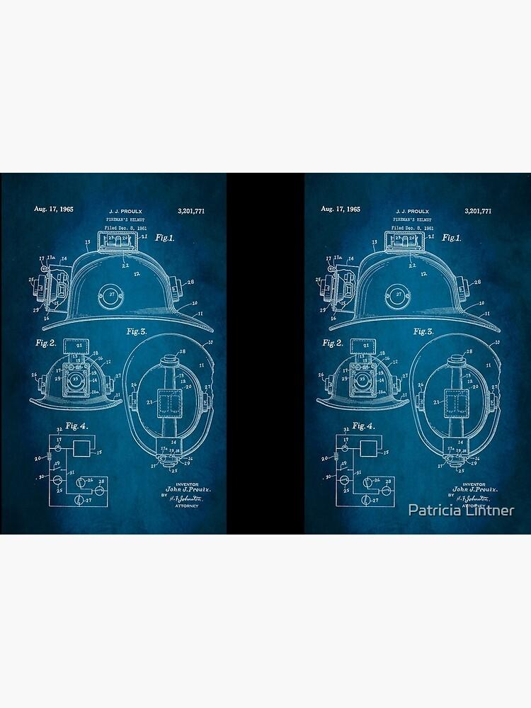 Firefighter Helmet Patent 1965 by plintner