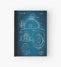 Firefighter Helmet Patent 1965 Hardcover Journal