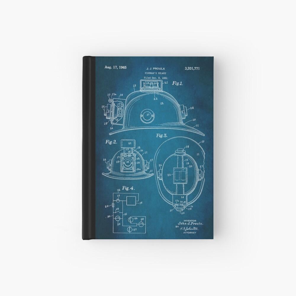 Firefighter Helmet Patent 1965 Hardcover Journal