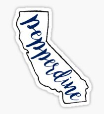 Pepperdine University State Outline Sticker