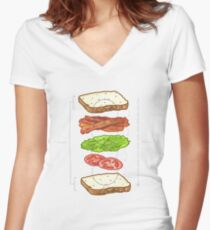 BLT PERFECTION BLUEPRINT tm Women's Fitted V-Neck T-Shirt