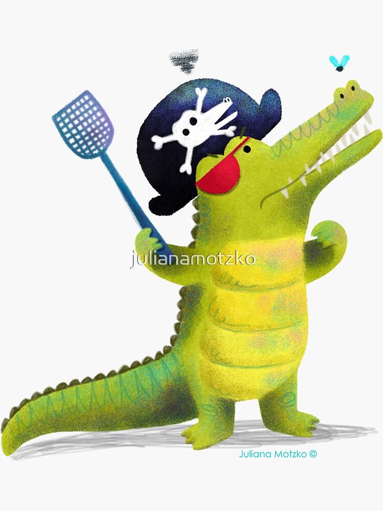 Captain Pirate Crocodile by julianamotzko
