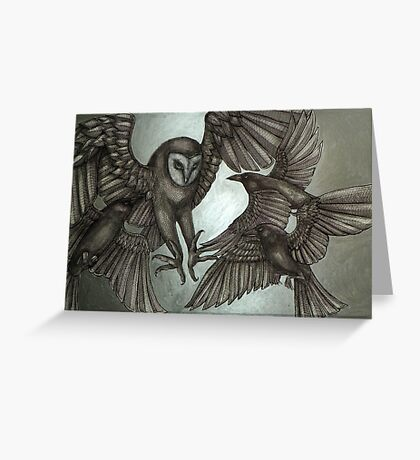 A Murder of Crows Greeting Card